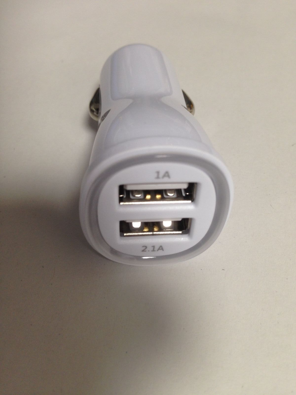 USB Car Charger 2 Sockets White Fast Charge German Branded Euro CE